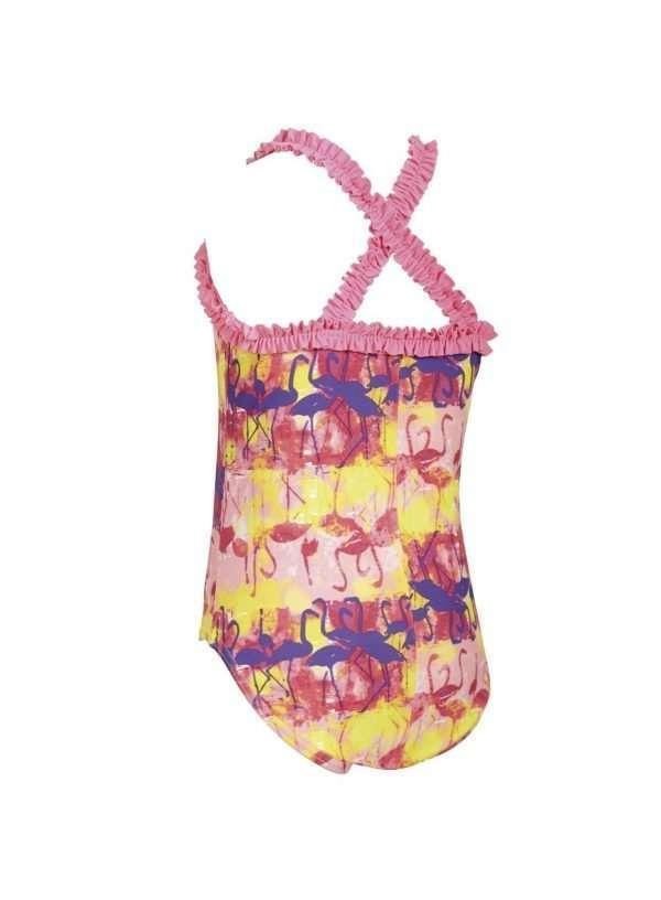zoggs flamingo ruffle toddler swimsuit