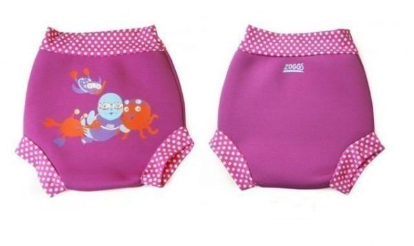 zoggs swimsure pink swim nappy